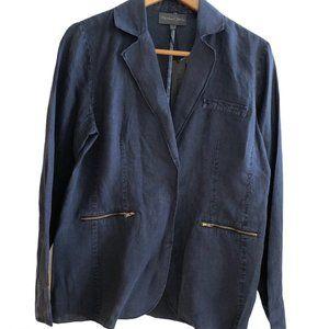 Michael Stars NWT Deconstructed Navy  Linen Jacket